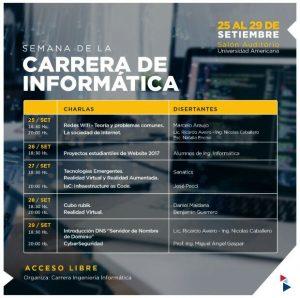 Agenda Semana de la Informática 2017